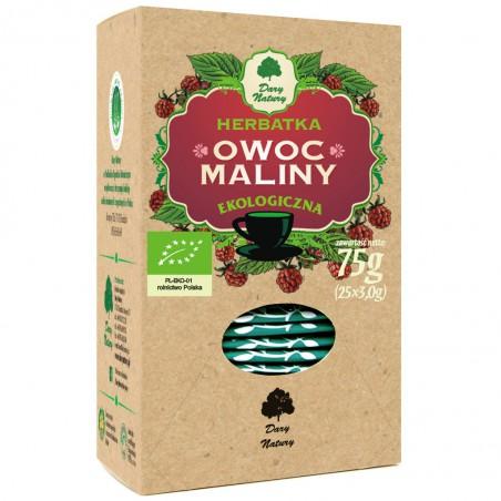 HERBATKA OWOC MALINY BIO (25 x 3 g) 75 g - DARY NATURY