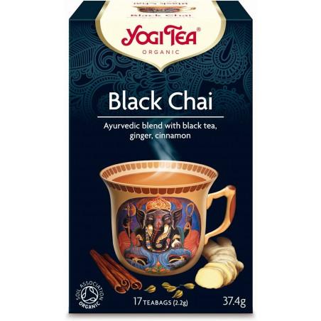 HERBATA CZARNA Z IMBIREM I CYNAMONEM (BLACK CHAI) BIO (17 x 2,2 g) 37,4 g - YOGI TEA