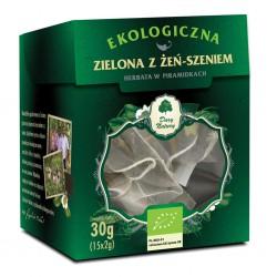 HERBATA ZIELONA Z ŻEŃ-SZENIEM PIRAMIDKI BIO (15 x 2 g) 30 g - DARY NATURY