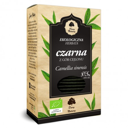 HERBATA CZARNA BIO (25 x 1,5 g) 37,5 g - DARY NATURY