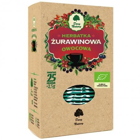 HERBATKA ŻURAWINOWA BIO (25 x 2,5 g) 62,5 g - DARY NATURY