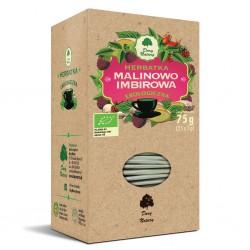 HERBATKA MALINOWO - IMBIROWA BIO (25 x 3 g) 75 g - DARY NATURY