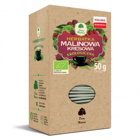 HERBATKA MALINOWA KRESOWA BIO (25 x 2 g) 50 g - DARY NATURY