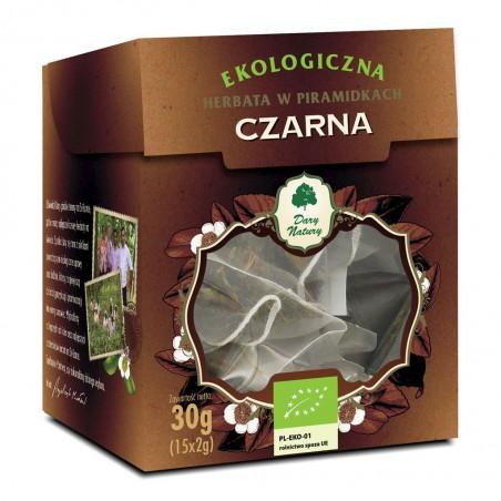 HERBATA CZARNA PIRAMIDKI BIO (15 x 2 g) 30 g - DARY NATURY