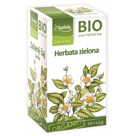 HERBATA ZIELONA CHIŃSKA EKSPRESOWA BIO (20 x 1,5 g) 30 g - APOTHEKE