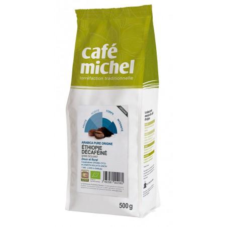 KAWA ZIARNISTA BEZKOFEINOWA ARABICA 100% ETIOPIA FAIR TRADE BIO 500 g - CAFE MICHEL