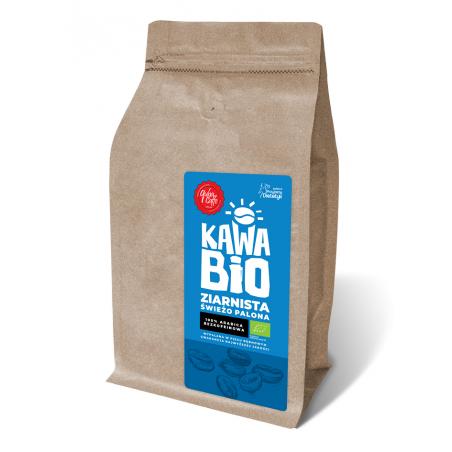 KAWA ZIARNISTA BEZKOFEINOWA ARABICA 100 % BIO 250 g - QUBA CAFFE