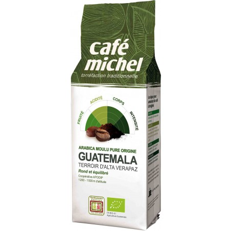 KAWA MIELONA ARABICA 100 % GWATEMALA FAIR TRADE BIO 250 g - CAFE MICHEL
