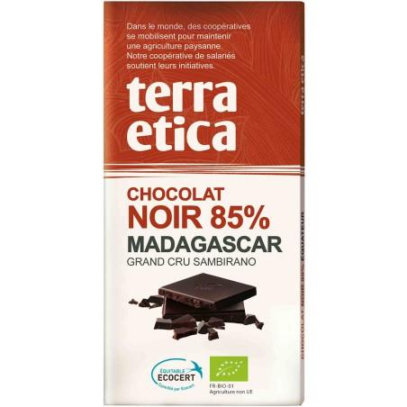 CZEKOLADA GORZKA 85 % MADAGASKAR FAIR TRADE BIO 100 g - TERRA ETICA