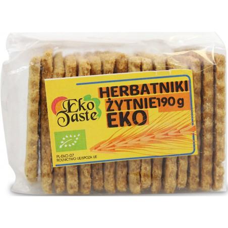 HERBATNIKI WEGAŃSKIE ŻYTNIE BIO 190 g - EKO TASTE (TAST)